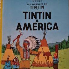 Cómics: COMIC - TINTIN - TINTIN A AMERICA - DESENA EDICIO 1990 TAPA DURA (EN CATALA). Lote 293925733