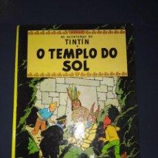 Cómics: COMIC TINTIN O TEMPLO DO SOL 1988 PRIMERA EDICION EN GALLEGO TAPAS DURAS. Lote 294065768