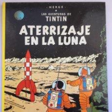 Cómics: TINTIN - ATERRIZAJE EN LA LUNA - TAPA DURA - EDICIÓN 1989. Lote 294500093
