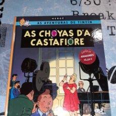 Cómics: TINTÍN EN ARAGONÉS LAS JOYAS DE LA CASTAFIORE / AS CHOYAS D'A CASTAFIORE ZEPHYRUM EDICIONES. Lote 295342228