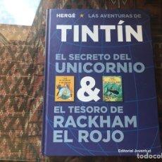Cómics: TINTÍN. HERGÉ. EL SECRETO DEL UNICORNIO & EL TESORO DE RACHHAM EL ROJO. JUVENTUD. COMO NUEVO. Lote 295482168