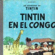 Cómics: TINTIN EN EL CONGO, 1968, JUVENTUD, PRIMERA EDICIÓN.. Lote 295516773