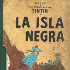 Cómics: TINTIN: LA ISLA NEGRA, 1961, PRIMERA EDICIÓN, USADO. COLECCIÓN A.T.. Lote 295517958