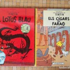 Cómics: TINTIN EN CATALÁ ELS CIGARS DEL FARAO - EL LOTUS BLAU ONZENA EDICIÓ 1990 - EN BON ESTAT. Lote 295545598