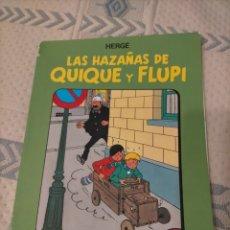 Cómics: TINTIN HERGE - LAS HAZAÑAS DE QUIQUE Y FLUPI 1. Lote 296894933