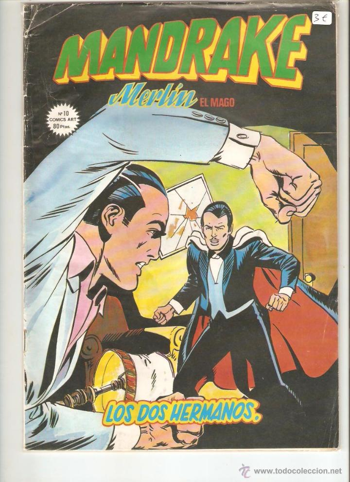 MANDRAKE MERLIN EL MAGO, Nº 10 LOS DOS HERMANOS, COMICS ART, EDICIONES VERTICE (Tebeos y Comics - Magerit - Mandrake)