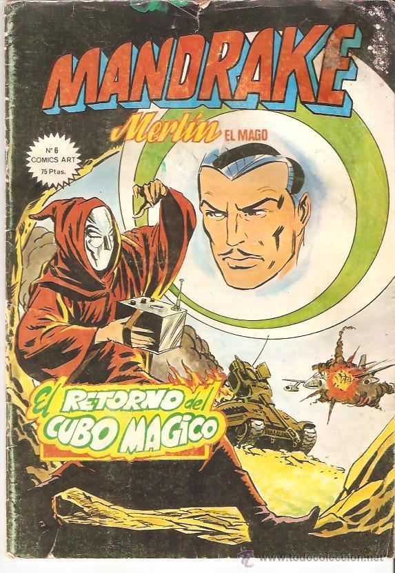 MANDRAKE MERLIN EL MAGO, Nº 6 EL RETORNO DEL CUBO MAGICO COMICS ART EDICIONES VERTICE (Tebeos y Comics - Magerit - Mandrake)
