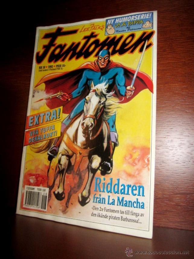 EL HOMBRE ENMASCARADO (PHANTOM) CON DON QUIJOTE DE LA MANCHA, EN SUECO. 1992 (Tebeos y Comics - Magerit - Phantom)