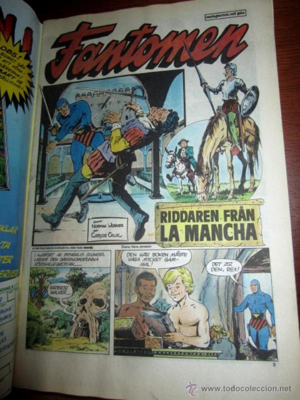 Cómics: EL HOMBRE ENMASCARADO (PHANTOM) con DON QUIJOTE DE LA MANCHA, en SUECO. 1992 - Foto 2 - 49969875