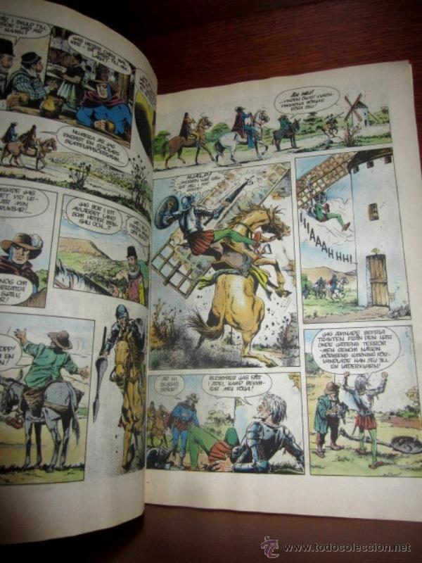 Cómics: EL HOMBRE ENMASCARADO (PHANTOM) con DON QUIJOTE DE LA MANCHA, en SUECO. 1992 - Foto 4 - 49969875