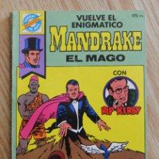 Cómics: POCKET DE ASES BRUGUERA VUELVE EL ENIGMATICO MANDRAKE EL MAGO CON RIP KIRBY SERIE CLASICOS 29 COMIC . Lote 49950118