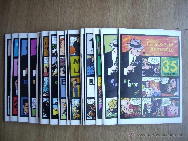 RIP KIRBY. ALEX RAYMOND. Nº 15,16,17,18,19,20,21,22,23,24,25,26,27,28,29,30,31,32,33,34,35,36 (Tebeos y Comics - Magerit - Rip Kirby)