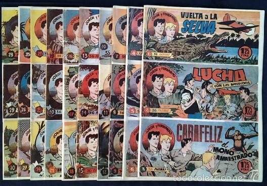 COLECCIÓN COMPLETA DE JORGE Y FERNANDO (SOLO SE EDITARON ESTOS 10 TOMOS POR LOS AÑOS 80) (Tebeos y Comics - Magerit - Jorge y Fernando)