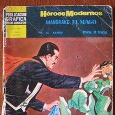 Cómics: HÉROES MODERNOS - NÚMERO 23 - MANDRAKE EL MAGO - EDITORIAL DOLAR. Lote 61938320