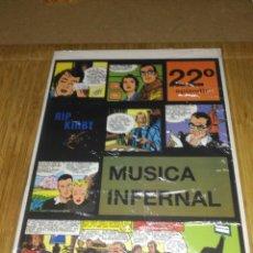 Cómics: RIP KIRBY Nº 22 NUEVO SIN USAR MÚSICA INFERNAL. Lote 132068054