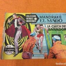 Cómics: MANDRAKE EL MAGO. COLECCIÓN HÉROES MODERNOS.NUMERO 2.. Lote 139100190