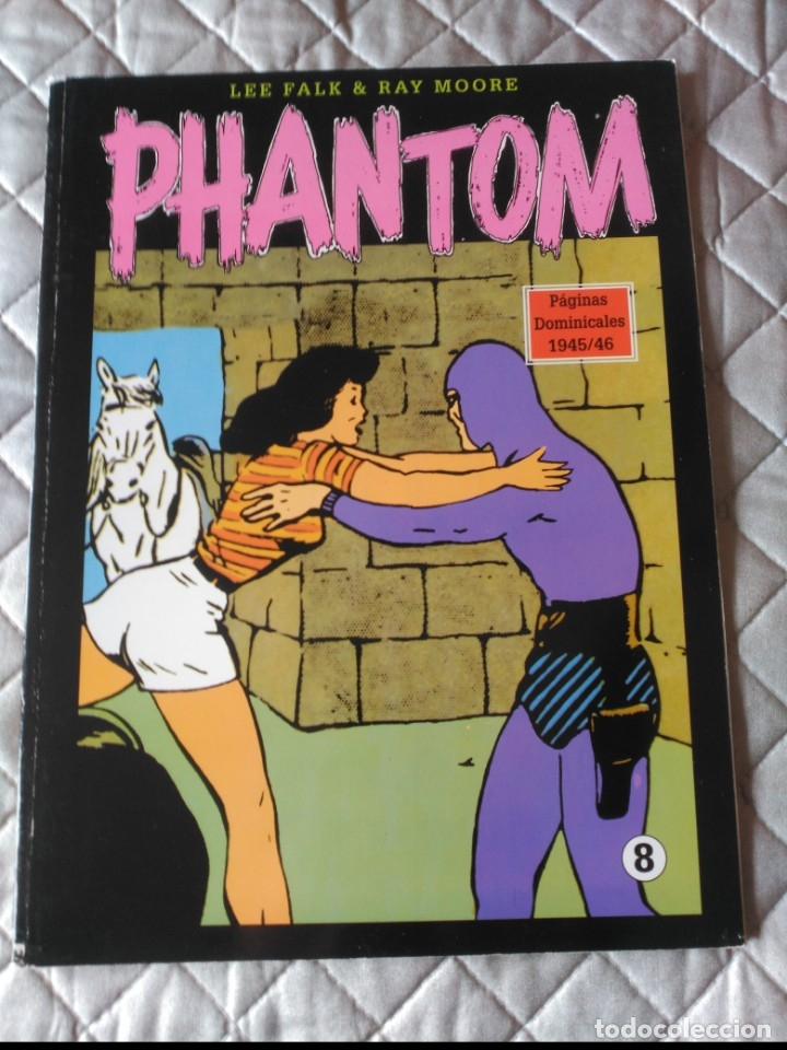 EL HOMBRE ENMASCARADO PHANTOM TOMO Nº 8 PAGINAS DOMINICALES 1939/40 MAGERIT EN COLOR (Tebeos y Comics - Magerit - Phantom)