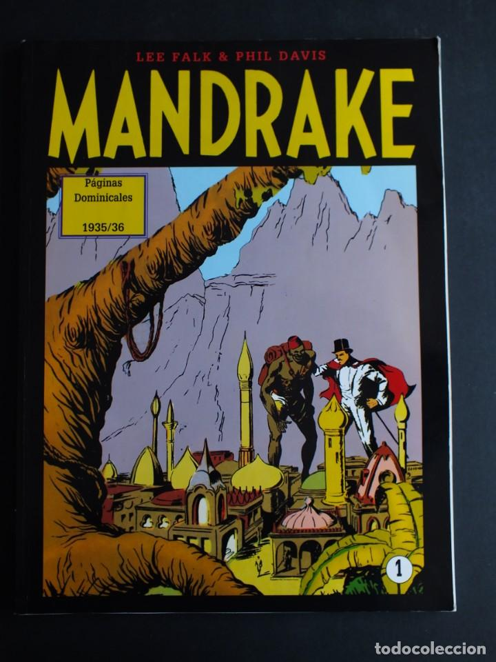 MANDRAKE LEE FALK - PHIL DAVIS PAGINAS DOMINICALES 1935/36 Nº 1 MAGERIT (Tebeos y Comics - Magerit - Mandrake)