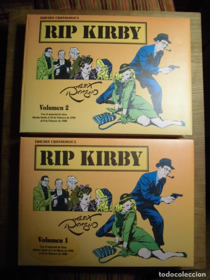 RIP KIRBY EDICIÓN CRONOLÓGICA COMPLETA EN 2 VOLÚMENES EDICIONES STUDIO COMICS (Tebeos y Comics - Magerit - Rip Kirby)