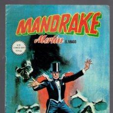 Cómics: 5 COMICS COLECCION MANDRAKE MERLIN EL MAGO EDICIONES VERTICE 1980 N,5,11,10,3,2.. Lote 237005610