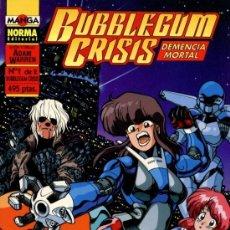 Cómics: BUBBLEGUM CRISIS - DEMENCIA MORTAL Nº1 (ADAM WARREN). Lote 34522582