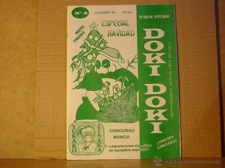 DOKI DOKI FANZINE PARA OTAKUS AVANZADILLOS Nº 4 DICIEMBRE DE 1996 - EDICION LIMITADA - WAKAI STUDIO (Tebeos y Comics - Manga)