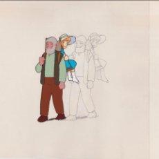 Cómics: CEL ORIGINAL DE LA SERIE ANIME HEIDI ( AÑOS 70´S ) CLARA Y EL ABUELO ( CON LAPIZ PRELIMINAR ). Lote 42710194