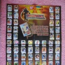 Cómics: DRAGON BALL Z POSTER 66 CARTAS SERIE 4 Y EN TRASERA MARIO SLAM BASKETBALL DIBUS 2007. Lote 47086925