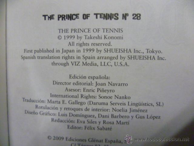 Cómics: The Prince Of Tennis Nº 28 (Takeshi Konomi) GLENAT - Foto 2 - 51726787