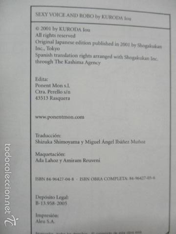 Cómics: SEXY VOICE AND ROBO TOMO 1 (IOU KURODA). PONET MON, 2005. COMO NUEVO - Foto 3 - 55797205