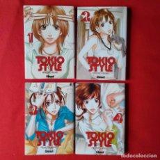 Cómics: TOKIO STYLE. MOYOCO ANNO , COLECCION COMPLETA 4 TOMOS GLENAT MANGA JOSEI FEMINISMO JAPONES. Lote 118905539