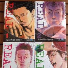 Cómics: REAL - TAKEHIKO INOUE - TOMOS 1 AL 4. Lote 122969127