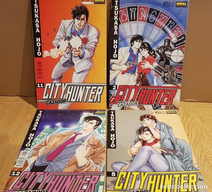 CITY HUNTER / CAZADOR / TSUKASA HOJO / LOTE DE 4 NÚMEROS ( 2-5-11-12 ) CON USO NORMAL / OCASIÓN. (Tebeos y Comics - Manga)