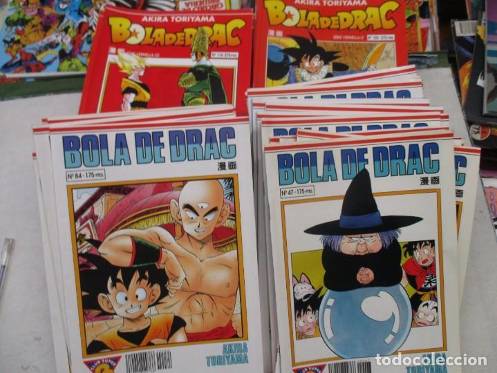 MEGA LOTE DRAGON BALL / BOLA DE DRAC SERIE BLANCA Y ROJA 137 NUMEROS EDICION CATALAN / CATALA (Tebeos y Comics - Manga)