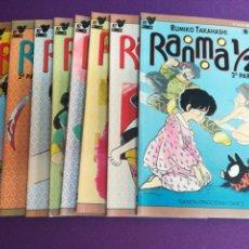 Cómics: RANMA 1/2 2A PARTE LOTE DEL 1 AL 8. PLANETA MANGA COMICS. Lote 136479172