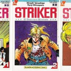 Cómics: STRIKER EL GUERRERO BLINDADO MINISERIE 3 NUMEROS, COMPLETA ED PLANETA VIZ COMICS 1993. Lote 145259230