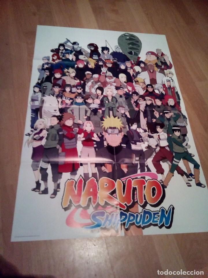 POSTER DE NARUTO SHIPPUDEN FIGURAS DE COLECCION (Tebeos y Comics - Manga)