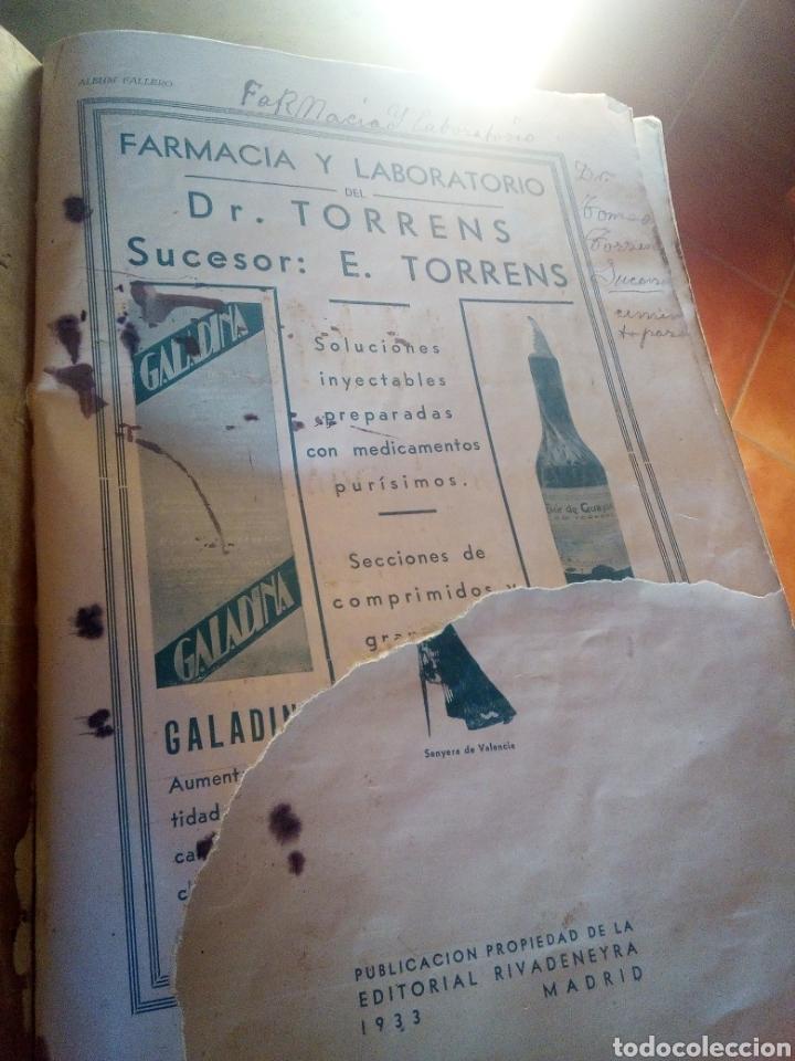 Cómics: ALBUM FALLERO DEDICADO A PROPAGAR LAS FIESTS DE LAS FALLAS RIVADENEYRA 1933 Pesa 700 gramos - Foto 6 - 146253838