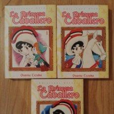 Cómics: LA PRINCESA CABALLERO TOMOS 1,2,3 COMPLETA DE OSAMU TEZUKA ED GLENAT. Lote 146801618