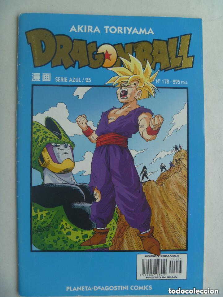 COMIC DE DRAGON BALL ( DE BOLA DE DRAGON ) , DE AKIRA TORIYAMA . Nº 178 , SERIE AZUL (Tebeos y Comics - Manga)