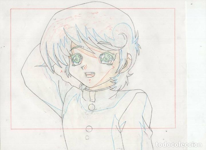 Cómics: ACETATO CELULOIDE Shin Hakkenden original Japanese animation cel CON LAPIZ douga A612 - Foto 2 - 156639134