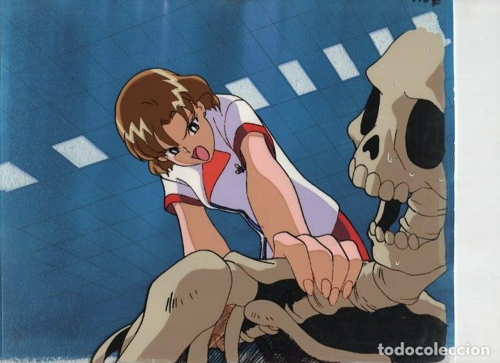 ACETATO CELULOIDE CUTEY HONEY FLASH ORIGINAL JAPANESE ANIMATION CEL CON LAPIZ DOUGA Y FONDO ORIGINAL (Tebeos y Comics - Manga)