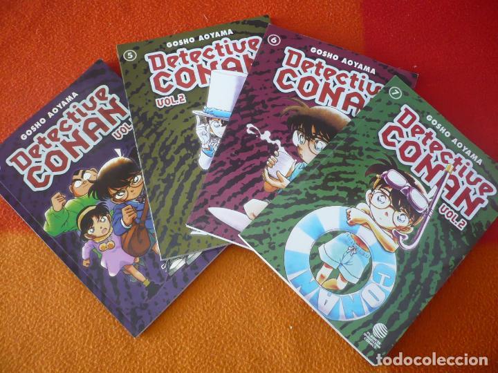 DETECTIVE CONAN VOL. 2 NºS 4, 5, 6 Y 7 ( GOSHO AOYAMA ) ¡MUY BUEN ESTADO! MANGA PLANETA (Tebeos y Comics - Manga)