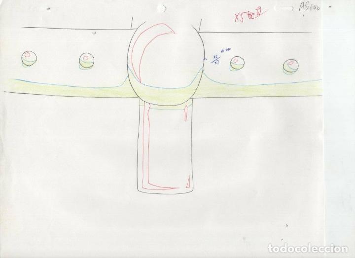 Cómics: ACETATO CELULOIDE SET Shin Hakkenden original Japanese animation cel CON douga LAPIZ - Foto 3 - 159867006