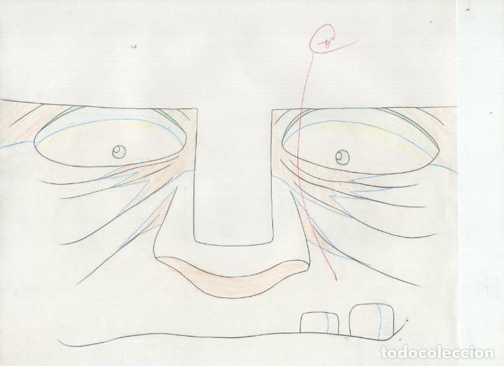 Cómics: ACETATO CELULOIDE SET Shin Hakkenden original Japanese animation cel CON douga LAPIZ - Foto 4 - 159867006