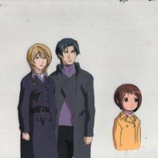 Cómics: FIGURE 17 TSUBASA & HIKARU ORIGINAL JAPANESE ANIMATION CEL W/DOUGA B12/36. Lote 160508186