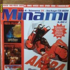 Cómics: MINAMI MAGAZINE Nº 31- CON: AKIRA- JORNADAS AVILES, CASTELLON- SAINT SEIYA - YU YU HAKUSHO- COSPLAY.. Lote 165483798