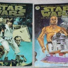 Cómics: STAR WARS- Nº 01 + Nº 10 (DE 12) POR GEORGE LUCAS & HISAO TAMAKI/SHIN.ICHI HIROMOTO. Lote 169680616