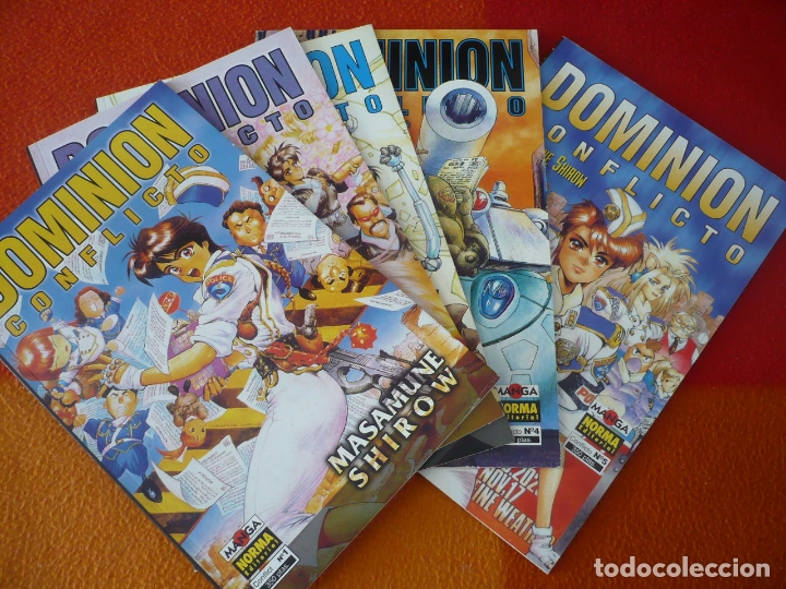 DOMINION CONFLICTO 1 AL 4 ¡COMPLETA! ( MASAMUNE SHIROW ) ¡MUY BUEN ESTADO! MANGA NORMA (Tebeos y Comics - Manga)