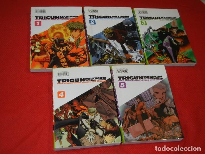 TRIGUN MAXIMUM, DE YASUHIRO NIGHTOW - VOLS 1,2,3,4 Y 5 - GLENAT 2005 (Tebeos y Comics - Manga)